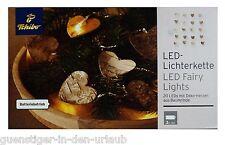 TCM Tchibo LED Lichterkette 20 LEDs mit Deko Herzen aus Baumrinde Lichter Kette