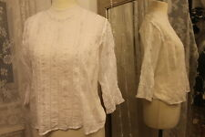 1920s white cotton lace blouse top - Ditsy Vintage - Antique Size 12