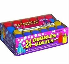 24 Assorted Bubbles and Wands Childrens Party Bag Fillers Birthday Wedding