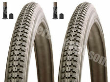 (Pair of) 26 X 1 3/8 Record Raleigh  Black Tyres And Tubes Schrader