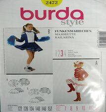 Burda Sewing Pattern 2472 Girls Cheer Cheerleader Majorette Dance Costume 7-12