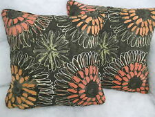 """""""ALOHA"""" BY SCION 1 PAIR 18 INCH CUSHION COVERS PIPED AND DOUBLE SIDED"""