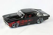 CHEVROLET CHEVELLE SS 1969 BLACK RED FLAMES 1:24 BIG TIME MUSCLE JADA 90056 NEW
