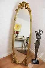 5ft5 x 1ft7 Vintage Chic Ornate Gold Oval Cheval Mirror