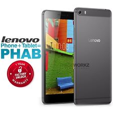 "New Unlocked LENOVO PHAB Plus PB1-770M 6.8"" IPS HD 4G Android Smartphone Tablet"