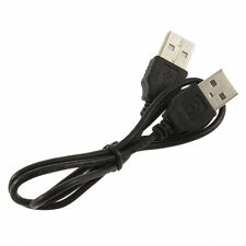 Black USB 2.0 Male To Male  Extension Connector Adapter Cable Cord IT