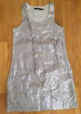 BNWT Sportgirl silver linen mini shift dress sleeveless size 8, gorgeous!