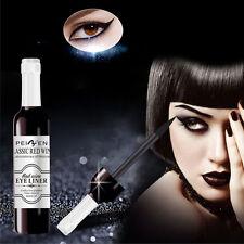 Neu Schwarz Wasserdicht Augen Eyeliner Fluid mit Pinsel Bürst Make Up Kosmetik