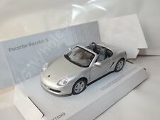 "Porsche Boxster S Silver Die Cast Metal Model Car 5"" Kinsmart Collectable New"