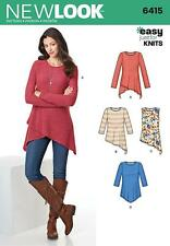 NEW LOOK SEWING PATTERN MISSSES' Misses' Tunic & Top  SIZE 8 - 20 6415