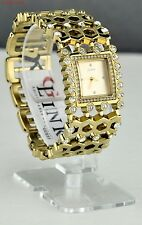 NWT Limited Pristine Watch GUESS Gold Stainless Steel Ladies Fresh U0574L2