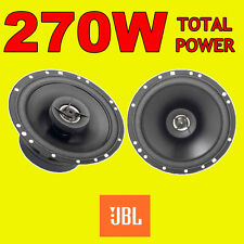 JBL 270W TOTAL 2WAY 6.5 INCH 16.5cm CAR DOOR/SHELF COAXIAL SPEAKERS BLACK PAIR