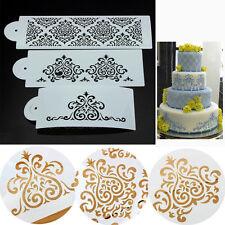 3Pcs Fondant-Kuchen Form Blumen-Schablone Geschnitzte Dekoration Werkzeug DODE