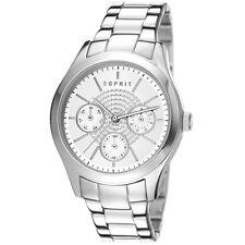 Esprit ES107802004 julia multi Uhr Damenuhr Edelstahl Datum silber UVP 119