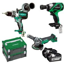 Hitachi 18V 6.0Ah Li-ion Cordless Brushless 3pce Combo Kit 1/2'' Wrench, Drill