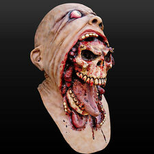 Bloody Zombie Mask MeltingFace Adult Latex Costume Walking Dead Halloween Scary