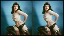 18 Stereofotos von Fetisch-Diva Bettie Page (1950) Lot 2, Format 9x18cm