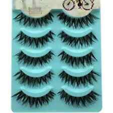 Natural 5 Pairs Long Thick Handmade Makeup Fake False Eyelashes Eye Lashes