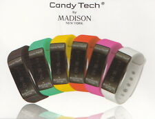 Candy Tech by Madison N.Y. Go Time Fitnessuhr / Smart-Watch CT-04 in weiss - NEU