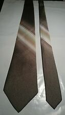 Paco Rabanne Men's Vintage Tie in Fawn with Criss Cross Shaded Pattern