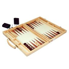 Natural Games 26563 Backgammon Tavla großer Holz-Koffer deLuxe