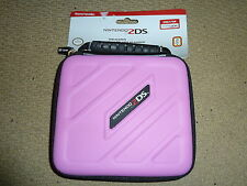 NINTENDO 2DS OFFICIAL CONSOLE PROTECTIVE ZIP UP CARRY CASE HOLDER Pink BRAND NEW