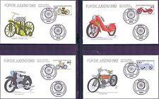 BRD 1983: Historische Motorräder! FDC der Jugendmarken Nr. 1168 - 1171! 1A 155
