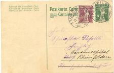 """CH """"TÄGERWILEN"""" grosse K2 1918, selt. Ortsstempel 2 x abgeschlagen, a. 5 (C.) GA"""