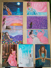 9 x Unused Postcards~Captivated Hearts~Art to Captivate Hearts