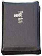 Die Bibel Schlachter 2000 Fibroleder - Goldschnitt - mit Reißverschluss -schwarz