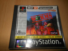 PS1 GAME WORMS (BEST OF INFOGRAMES) MINT COLLECTORS