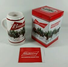 2016 Budweiser Holiday Stein Annual Clydesdale Christmas Beer Mug NEW w/Gift Box