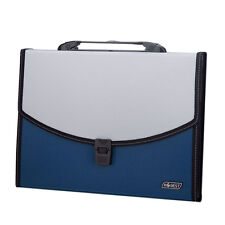 Blue Portable 13 Pocket A4 Expanding File Folder Documents Storage Organiser