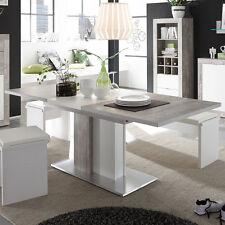 Esstisch Jump Beton Dekor & weiß Wohnzimmer Tisch ausziehbar 160x210 cm