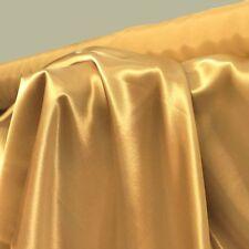 gold GLANZ SATIN Stoffe Gardinenstoff Vorhangstoff Kleiderstoff Dekostoff NEU