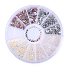 3D Nagel Glitzersteine Acryl UV Gel Straßsteine Nageldesign Nail Art Deko Rad