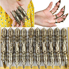 8pcs/Lot Fashion Gothic Punk Hinged Knuckle Full Joint Finger Armor Rings Claw