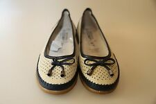 NATURAL COMFORT Women's Leather New Jess Shoes Size 9  ice/navy colour new box