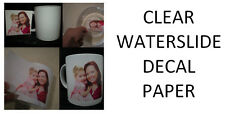 Clear Inkjet Water Slide Decal Paper 20 Sheets A4