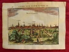 BRAUNSCHWEIG NIEDERSACHSEN KOLORIERTER KUPFERSTICH BERTIUS JANSSONIUS 1616