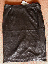 NEW Sz 10 Black sequin Pencil Stretch Skirt Fully Lined