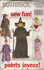 Butterick Sewing Pattern 5593, Witch, Wizard, Costume, Child 4 - 14, Uncut