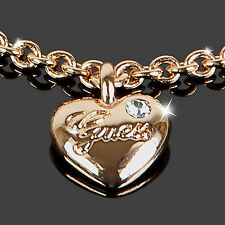 GUESS Armband HEARTS AND ROSES ROSÉGOLD Armkette Messing Damen Schmuck Zirkonia
