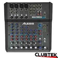 Alesis MM8 USB FX 8 Channel Mixer With Effects + USB Audio Interface CubaseLE UK