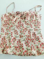 FOREVER NEW WOMENS CORSET TOP FLORAL SEXY COTTON SZ 6