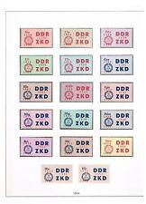 DDR ZKD C 16-30, 4 rote Nummern, komplett, tadellos postfrisch,.Luxus