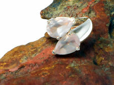 Rose   QUARTZ     Sterling  Silver  925  RING  -   Size   O / 7   -  Gift Boxed!