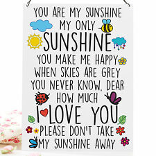 YOU ARE MY SUNSHINE Cute High Quality Metal Sign Tin Retro Plaque 20X15cm