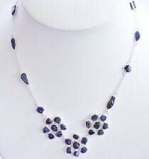 GENUINE! 31.8gr Handmade African Sapphire Rough, Necklace Sterling Silver 925!