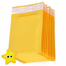 100 Small Gold Padded, Bubble Lined Envelopes MAIL Cheap Brown Yellow
